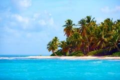 加勒比,绍纳岛,多米尼加共和国美丽的热带海岸  图库摄影