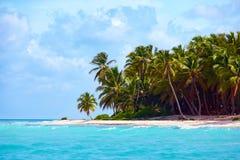 加勒比,绍纳岛,多米尼加共和国美丽的热带海岸  库存图片