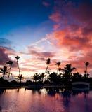 加勒比sunsrise 免版税库存照片