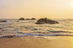 加勒海岸线,斯里兰卡 免版税库存图片