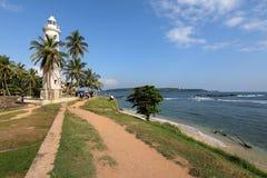 加勒灯塔在斯里兰卡 库存照片