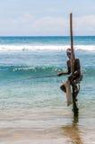 加勒的高跷渔夫 免版税库存照片
