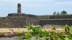 加勒,斯里兰卡- 2014年3月:跟踪美丽的加勒堡垒射击  加勒是南方省的行政首都, Sr 股票录像