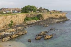 加勒,斯里兰卡- 2016年12月09日:在灯塔,堡垒附近的区域 免版税库存照片