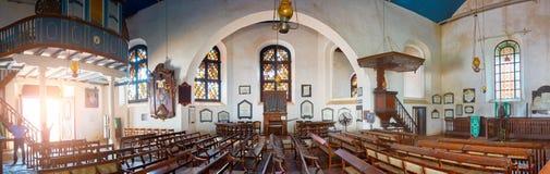 加勒, SRI-LANKA/FEBRUARY 02,2017 :老荷兰教会内部  免版税库存图片