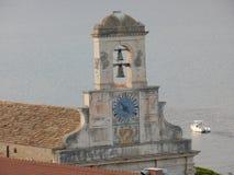加埃塔-最圣洁的安农齐亚塔的钟楼 免版税库存图片
