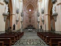 加埃塔-阿西西圣法兰西斯寺庙的法坛  库存图片