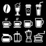 加奶咖啡喝象 免版税图库摄影