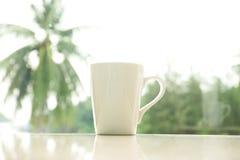 加奶咖啡杯子早晨 库存照片