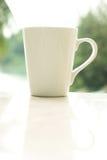 加奶咖啡杯子早晨 图库摄影