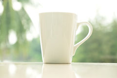加奶咖啡杯子早晨 免版税库存图片