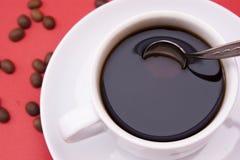 加奶咖啡杯子 图库摄影