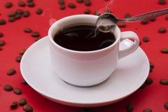 加奶咖啡杯子 免版税库存图片