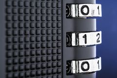 加密和数据保护的概念 图库摄影
