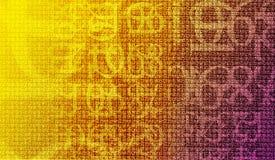 加密编号 免版税库存图片