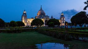 加尔各答维多利亚纪念品  免版税库存图片