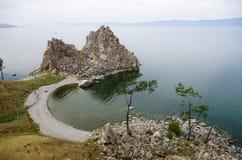 贝加尔湖全景  库存图片