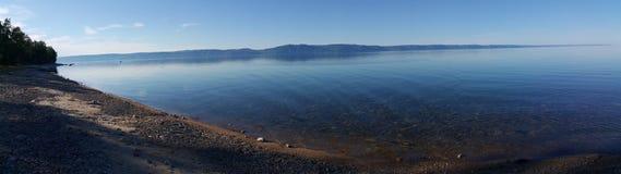 贝加尔湖全景 图库摄影