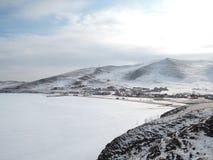 贝加尔湖冬天 免版税库存图片