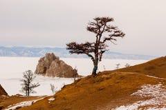 贝加尔湖冬天 库存照片