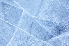 贝加尔湖冰纹理 免版税库存照片