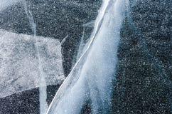 贝加尔湖冰  图库摄影