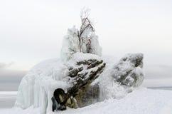 贝加尔湖冰  库存照片