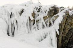 贝加尔湖冰  免版税库存图片