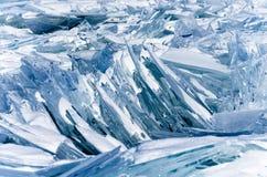 贝加尔湖冰  免版税库存照片