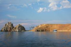贝加尔湖在俄罗斯 免版税库存照片