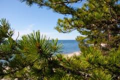 贝加尔湖在俄罗斯 免版税库存图片