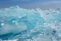 贝加尔湖在春天 免版税库存照片