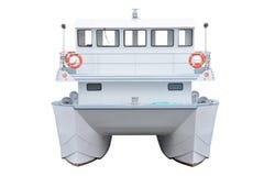 贝加尔湖小船湖马达全景 免版税库存图片