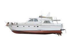贝加尔湖小船湖马达全景 库存图片