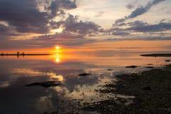 贝加尔湖岩石岸 库存照片