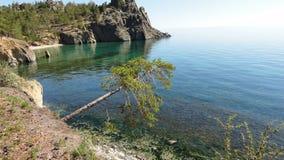 贝加尔湖海湾 库存照片