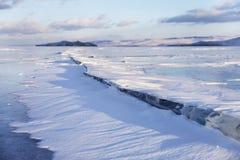 贝加尔湖湖 33c 1月横向俄国温度ural冬天 免版税库存图片