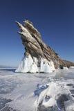 贝加尔湖湖 Ogoi海岛 33c 1月横向俄国温度ural冬天 免版税库存照片