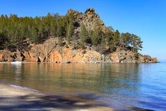 贝加尔湖的桑迪贝 免版税库存图片