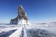 贝加尔湖, Ogoi海岛 33c 1月横向俄国温度ural冬天 库存图片