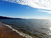 贝加尔湖Barguzin海湾  免版税库存图片