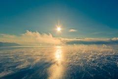 贝加尔湖Listvyanka 免版税库存照片