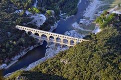 加尔省桥梁 免版税库存照片