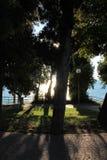 加尔达湖西尔苗内意大利 库存图片