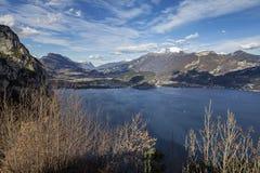 加尔达湖,特伦托自治省女低音阿迪杰 免版税库存照片
