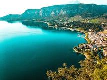加尔达湖 免版税库存图片