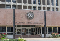 加尔维斯敦县法院大楼 免版税库存图片