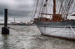 加尔维斯顿湾风帆船 库存图片