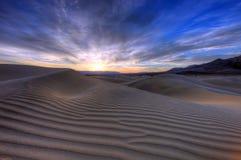 加州死亡沙丘横向沙子谷 图库摄影