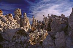 加州湖单音凝灰岩 免版税图库摄影